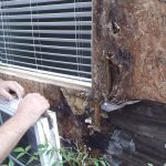This 14 year old condo had rain getting behind the original Hardie Board creating serious rot problems.