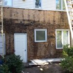 Subwall rotting UNDER the cedar siding over the years and got new Hardie Plank siding in Happy Valley