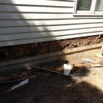 Old cedar siding with significant rot under it replaced with Hardie Plank in Happy Valley.