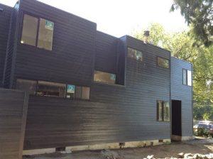 A modern condo complex got Hardie Plank siding in Lake Oswego