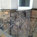 Structural rot that could have been avoided if the previous company used flashing